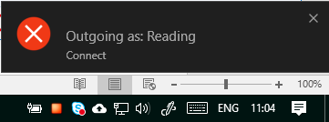 Outgoing As toast notification window